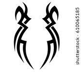 tribal tattoo art designs.... | Shutterstock .eps vector #610065185