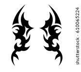 tattoos ideas designs   tribal... | Shutterstock .eps vector #610065224