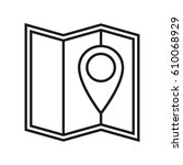 map icon in simple line style...   Shutterstock .eps vector #610068929