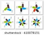 vector arrows infographic.... | Shutterstock .eps vector #610078151