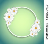 decorative circular frame with... | Shutterstock .eps vector #610078919