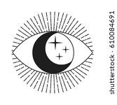 Symbol Of Eye With Moon And...