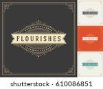royal logo design template... | Shutterstock .eps vector #610086851