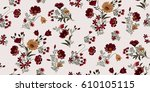 Stock vector seamless floral pattern in vector 610105115