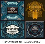 set of old cards | Shutterstock .eps vector #610105469