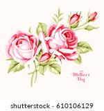 decorative card with vintage... | Shutterstock .eps vector #610106129