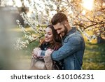 close up photo of a couple... | Shutterstock . vector #610106231