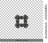 teamwork hands people icon. | Shutterstock .eps vector #610106801