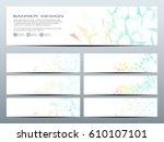 set of modern scientific...   Shutterstock .eps vector #610107101