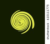 abstract swirl logo flat vector ... | Shutterstock .eps vector #610111775