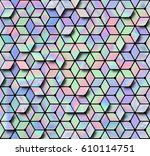 holographic seamless pattern ... | Shutterstock .eps vector #610114751