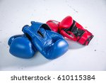 boxing gloves and other boxing... | Shutterstock . vector #610115384