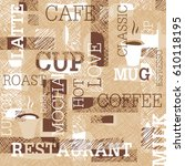 Coffee Themed Seamless Pattern...