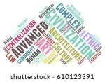 civilization word cloud... | Shutterstock .eps vector #610123391
