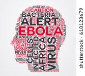 ebola word cloud head typography | Shutterstock .eps vector #610123679