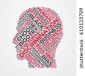 discrimination word cloud head... | Shutterstock .eps vector #610123709