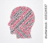 entrepreneurship word cloud... | Shutterstock .eps vector #610124537