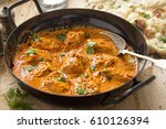 butter chicken curry. murgh... | Shutterstock . vector #610126394