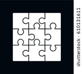 puzzle icon vector illustration | Shutterstock .eps vector #610131611