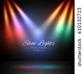 stage with colorful lights... | Shutterstock .eps vector #610132715