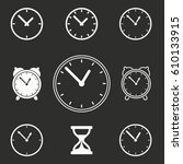 clock vector icons set....