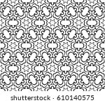 geometric pattern with floral... | Shutterstock .eps vector #610140575