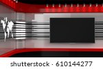 tv studio. backdrop for tv... | Shutterstock . vector #610144277