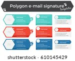 set of 9 polygon like email...   Shutterstock .eps vector #610145429