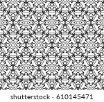 geometric pattern with floral... | Shutterstock .eps vector #610145471