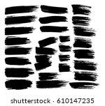 grunge paint vector. painted... | Shutterstock .eps vector #610147235