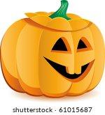 halloween pumpkin as jack o... | Shutterstock .eps vector #61015687