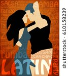 latin party illustration with...   Shutterstock .eps vector #610158239