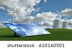 alternative energy concept with ... | Shutterstock . vector #610160501