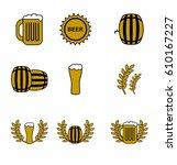 beer vector icons set   Shutterstock .eps vector #610167227