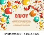 festive celebration concept...   Shutterstock . vector #610167521