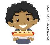 vector illustration of little... | Shutterstock .eps vector #610168901