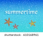 sea background with starfish... | Shutterstock .eps vector #610168961