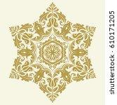 elegant vector golden ornament... | Shutterstock .eps vector #610171205