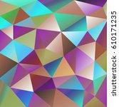 geometric vector abstract... | Shutterstock .eps vector #610171235