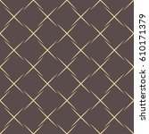 geometric dotted vector brown... | Shutterstock .eps vector #610171379