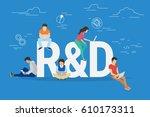 research and development... | Shutterstock . vector #610173311