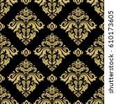classic seamless vector golden... | Shutterstock .eps vector #610173605