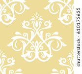 damask vector classic pattern.... | Shutterstock .eps vector #610173635