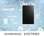digital composite of phone... | Shutterstock . vector #610176401