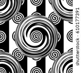 abstract seamless black and... | Shutterstock .eps vector #610177391