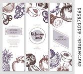 fruit banners   vector modern... | Shutterstock .eps vector #610178561
