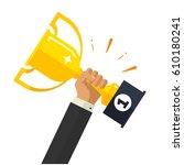 business goal achievement...   Shutterstock . vector #610180241