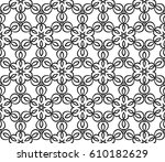 geometric pattern with floral... | Shutterstock .eps vector #610182629