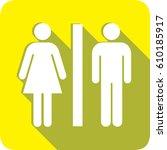 men and women toilet sign | Shutterstock .eps vector #610185917