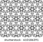 geometric pattern with floral... | Shutterstock .eps vector #610186391